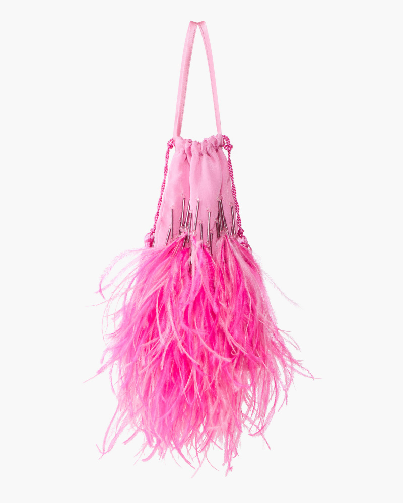 POUCH WITH FEATHERS