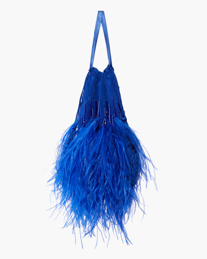 POCHETTE WITH FEATHERS